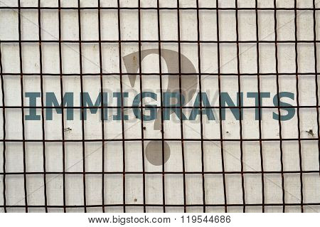 Word Immigrants And Fence