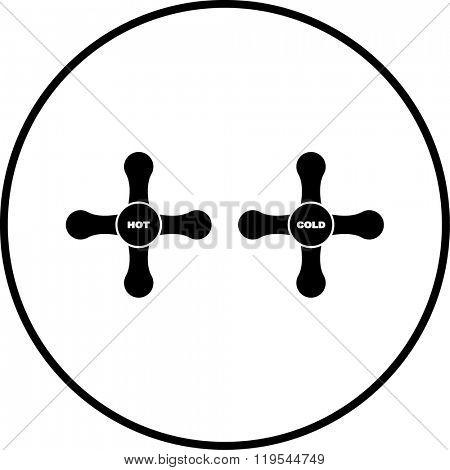 water tap knobs symbol