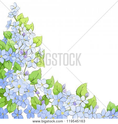 Bright flowers on light background