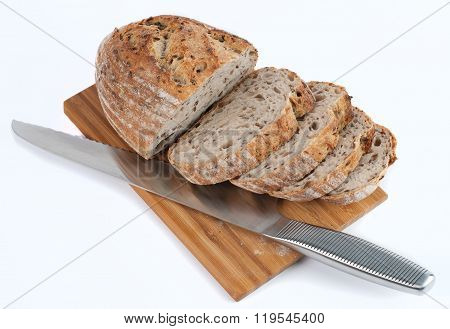 bread on the desk