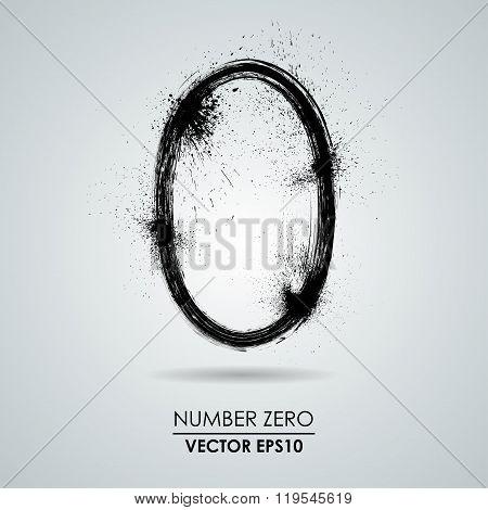 Vector grunge number - zero