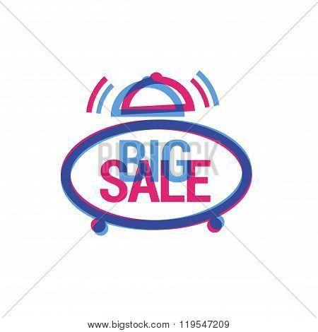 Vector Big Sale eye catching label