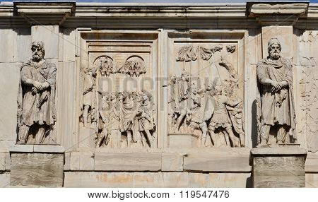 Emperor Constantine Meets The Barbarian Leaders And Prisoners