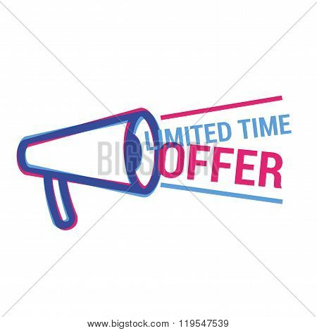 Vector Limited Time Offer eye catching label