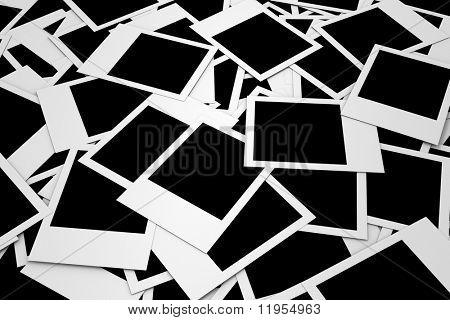 Pile of blank photos