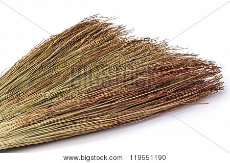 Besom Close-up, Isolated On White Background