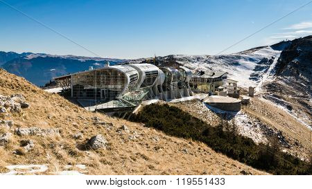 Mountain Station View Of Cableway Malcesine - Monte Baldo, Italy