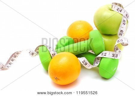 Fitness concept isolated on white background