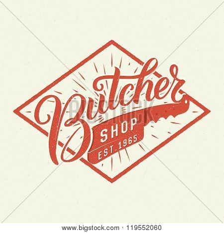 Butcher shop logotype.