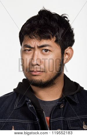 Portrait of young adult Asian man
