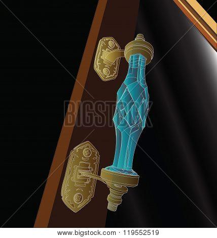 Antique Door Handles Like A Diamond