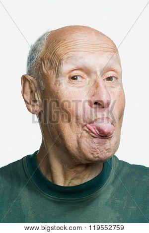 Portrait of a senior adult man