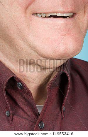 Chin of a man