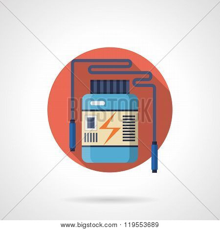 Energy supplement detailed flat color vector icon
