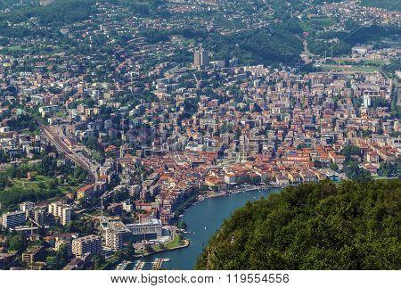 View Of Lugano, Switzerland