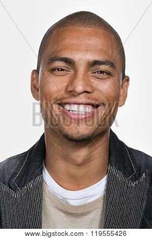 Portrait of young adult African American man