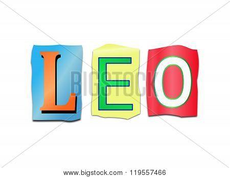 Leo Word Concept.