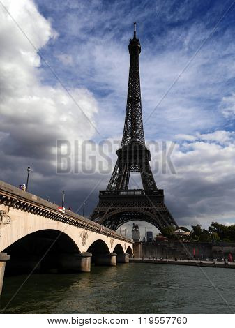 Eiffel Tower from across River Seine