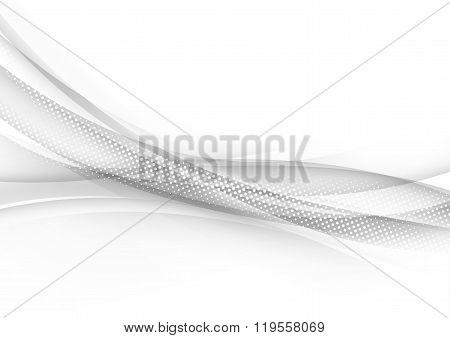 Transparent Halftone Modern Swoosh Wave Line