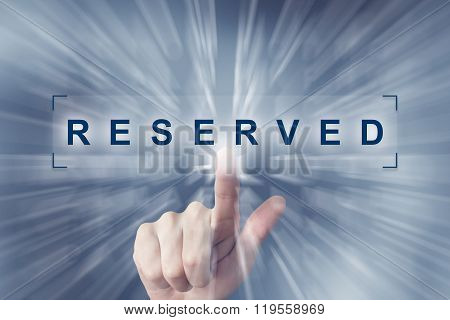 Hand Clicking On Reserved Button