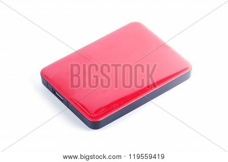 Red External Hard Drive