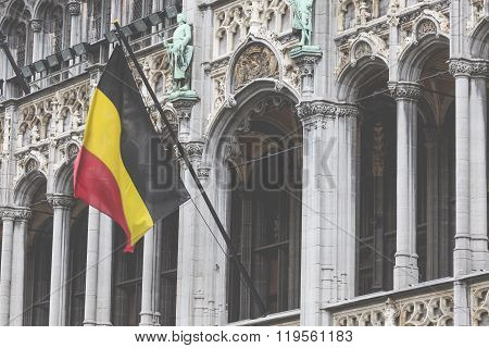 Brussels - January 12: Grand Place In Brussels Belgium On January 12, 2015.