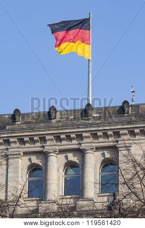 Berlin, Germany - April 11, 2014: Reichstag Building, Seat Of The German Parliament (deutscher Bunde