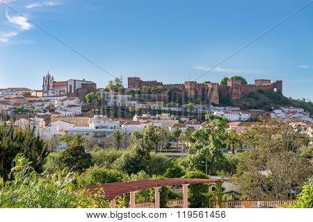 Castle In Silves, Old Moorish Capital Of Portugal.