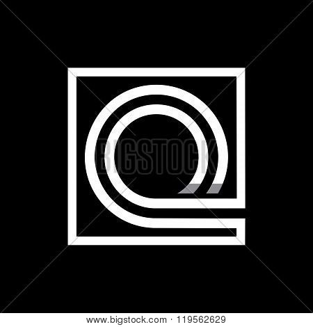 Capital letter Q . Overlapping with shadows monogram, logo, emblem.