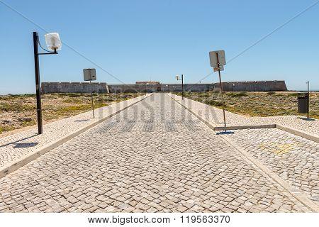 Sagres Fortress Entrance In Sagres City, Algarve, Portugal