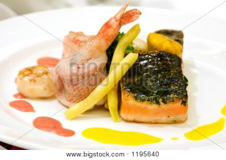 Steamed Red Snapper With Shrimps