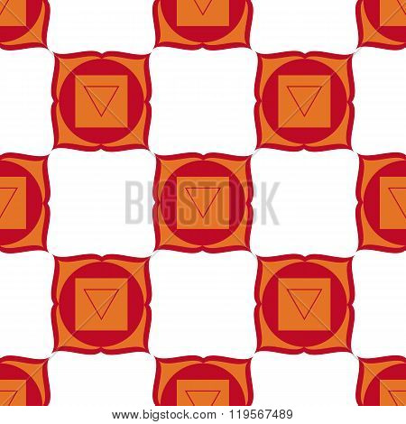 Muladhara - Root Chakra. The Symbol Of The First Chakra. Seamless Pattern.