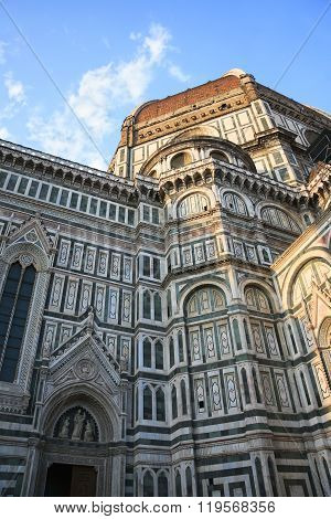 Florence, Italy - April 16, 2010: Bottom-up View To The Cattedrale Di Santa Maria Del Fiore