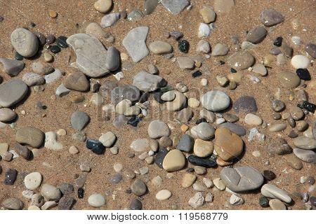 Rock on a beach in Sleeping Bear Dunes National Lakeshore, Michigan