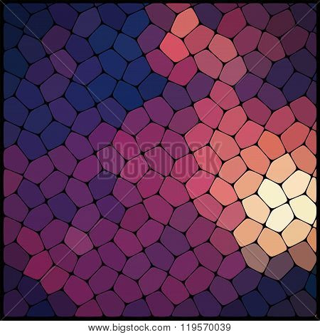 Abstract Background Consisting Of Black Lines With Rounded Edges Of Different Sizes And Brown Geomet