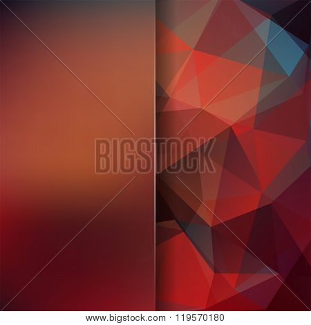 Polygonal Vector Background. Blur Background. Can Be Used In Cover Design, Book Design, Website Back