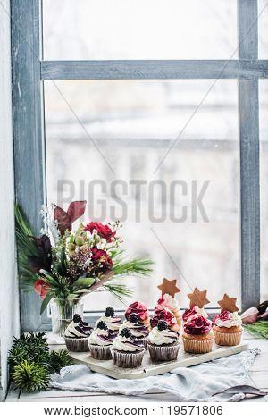 berry cupcakes