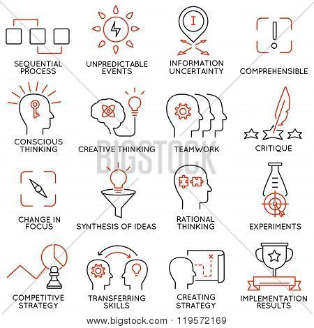 Set of icons related to business management - part 42