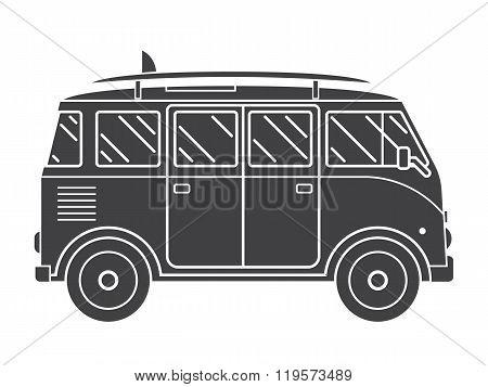 Travel Omnibus Outline Silhouette Icon