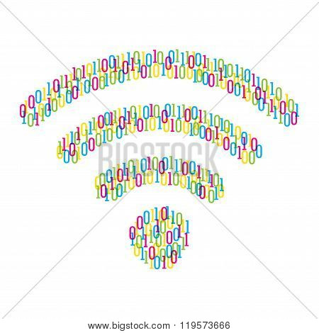 digital wifi signal symbol design