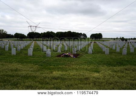 Graves at the Lincoln National Cemetery