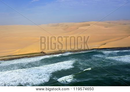 The Sceleton Coast In Namibia