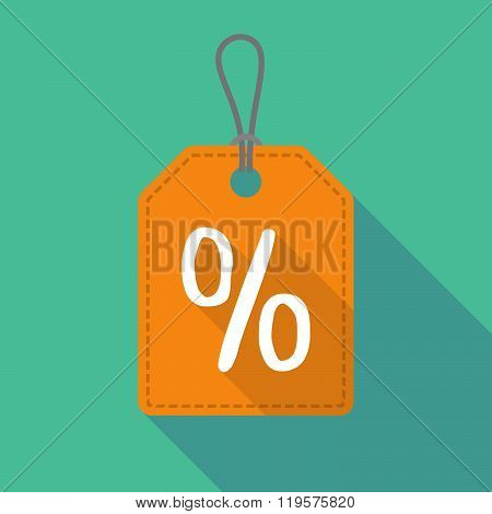 Long Shadow Label Icon With A Discount Sign