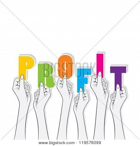 profit text banner design
