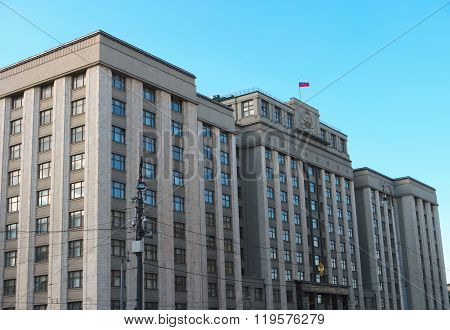 The State Duma of Russian Federation in Moscow