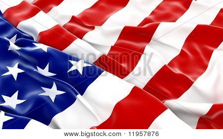 USA flag - 3D render