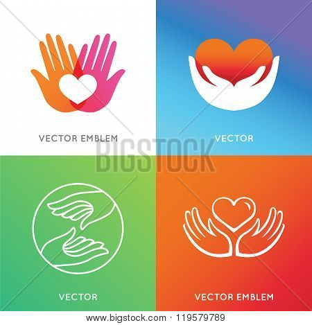 Vector Charity And Volunteer Concepts