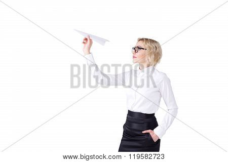 Woman With A Paper Plane