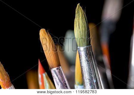 Paintbrushes Close Up