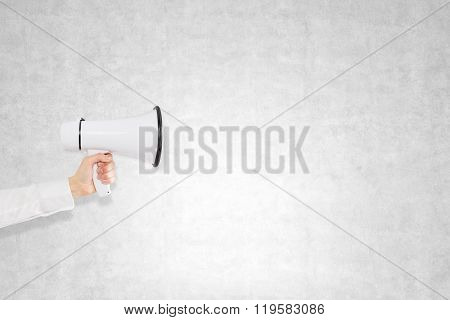 Hand With A Loudspeaker